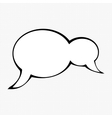 Unique comic speech bubble vector image vector image