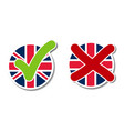 united kingdom voting buttons vector image vector image
