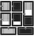 venetian blind window black symbols vector image vector image