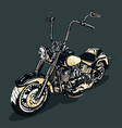 Vintage motorcycle vector | Price: 1 Credit (USD $1)