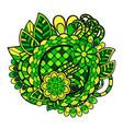 zentangle doodle floral ornament vector image vector image