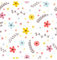 floral summer seamless pattern with leaves vector image