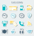 16 gas station icons Fuel icons Stickers vector image vector image