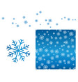 a set of winter designs seamless ornament with vector image vector image