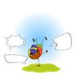 a street boy with speech balloon vector image vector image