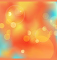 abstract bokeh autumn background vector image