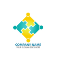 Abstract People Puzzle Logo Icon vector image