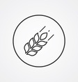 Agriculture outline symbol dark on white vector image vector image