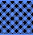 black and blue lumberjack plaid seamless pattern vector image