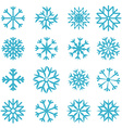 Blue Snowflakes Set vector image vector image