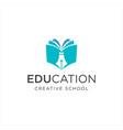 book pen logo education design vector image vector image