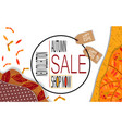 bright banner for autumn sale with autumn leaves vector image vector image