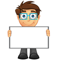 Business Man Blank Sign 4 vector image vector image