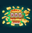 casino slot machine 777 jackpot winning game vector image