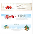 christmas banner collection vector image vector image