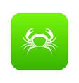 crab icon digital green vector image vector image