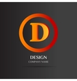 D Letter logo abstract design vector image vector image