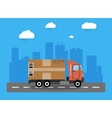 Delivery truck concept vector image vector image