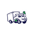 Delivery Van Waving Cartoon vector image vector image