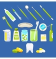 Dentistry Related Objects Set vector image vector image