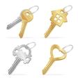 different keys set vector image