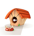 dog house animals eat vector image vector image