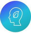 eco mind icon vector image vector image