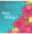 Floral decorative card with rose vector image
