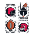 football elements icon vector image vector image