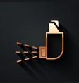 gold inhaler icon isolated on black background