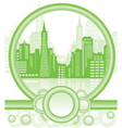 green city background vector image