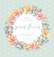 hand drawnl wreath vector image vector image