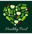 Healthy vegetable food poster vector image vector image