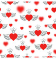 hearts bokeh valentine s day abstract background vector image