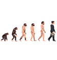 human evolution from ancient times till nowadays vector image vector image
