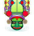 indian kathakali dancer face vector image