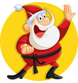 karate santa claus ready for christmas vector image vector image