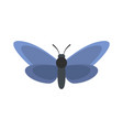light butterfly icon flat style vector image