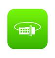 lock code icon green vector image