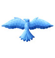 low poly with blue icy bird vector image