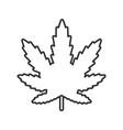 marijuana leaf linear icon vector image vector image