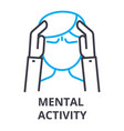 mental activity thin line icon sign symbol vector image vector image