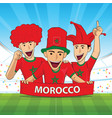 morocco football support vector image