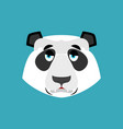 panda sad emoji chinese bear sadness emotion vector image vector image