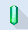 part of emerald icon flat style vector image vector image
