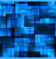 pattern of blue tiles and squares with shadow and vector image