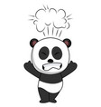 pissed off panda on white background vector image vector image