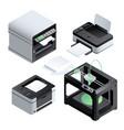 printer icon set isometric style vector image