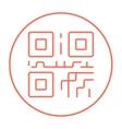 QR code line icon vector image vector image