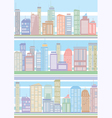 Seamless buildings pattern